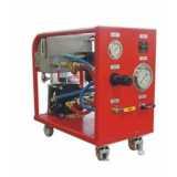 unidade de bombeio para teste hidrostático